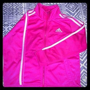 Girls pink Adidas jacket